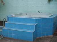 Jacuzzi Dismantled & Tennis Bag Shed Repaired